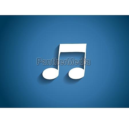 music glossy icon vector illustration on