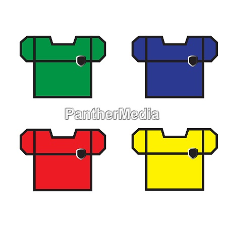 colored beautiful workwear isolated vector illusatration