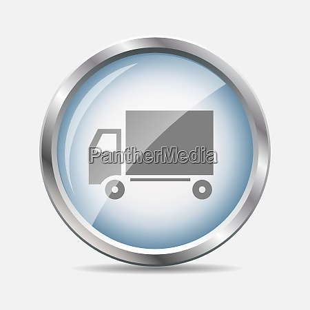 delivery glossy icon isolated vector