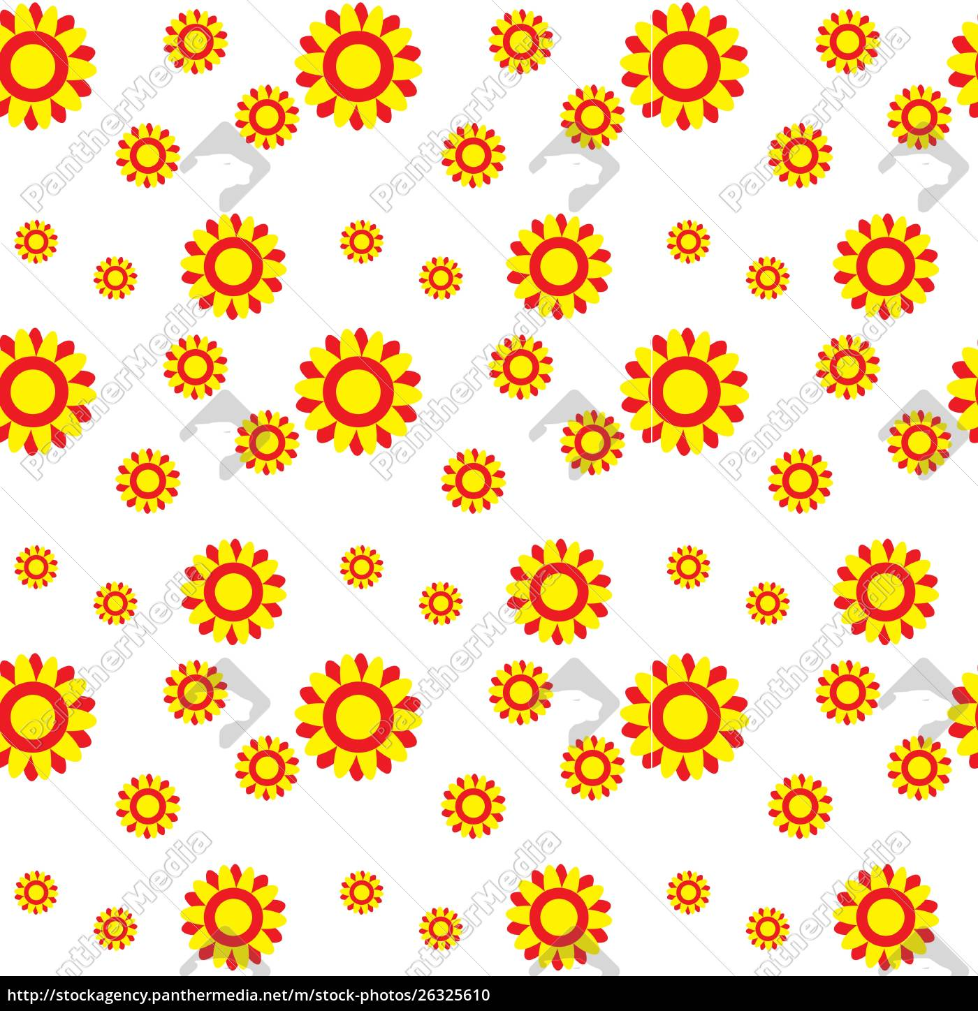 Royalty Free Vector 26325610 Abstract Colorful Background With Flowers Seamless Pattern