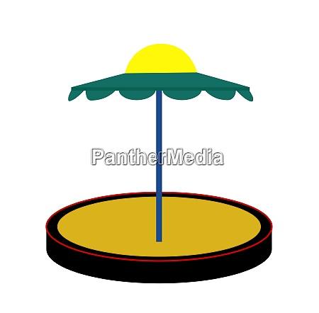 silhouette sandbox on white background vector