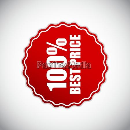 best price golden label vector illustration