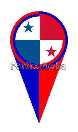 panama map pointer location flag