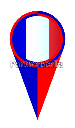 france map pointer location flag