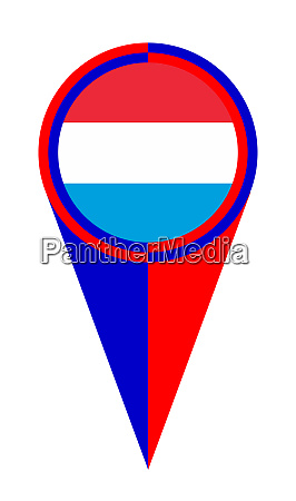 luxembourg map pointer location flag