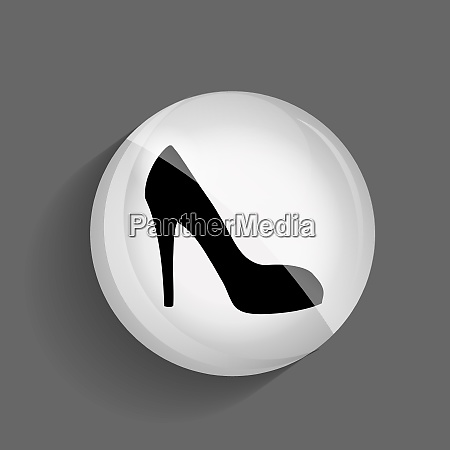 shoes glossy icon vector illustration on