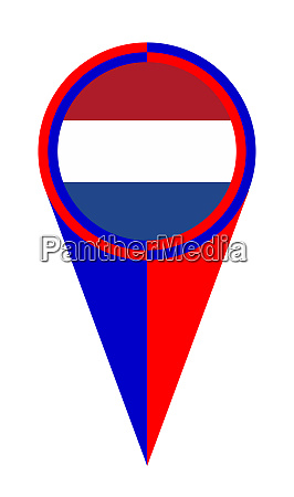 netherlands map pointer location flag