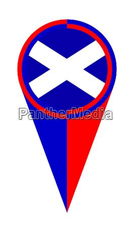 scotland map pointer location flag