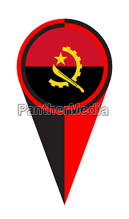 angola map pointer location flag