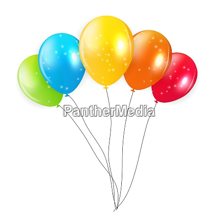 set of colored balloons vector illustration