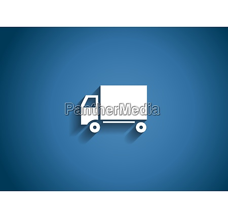 delivery glossy icon vector illustration