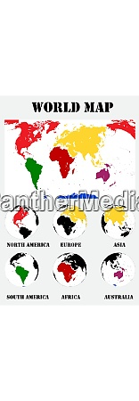 map of the world vector illustration
