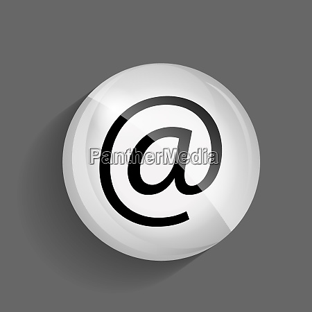 mail glossy icon vector illustration on