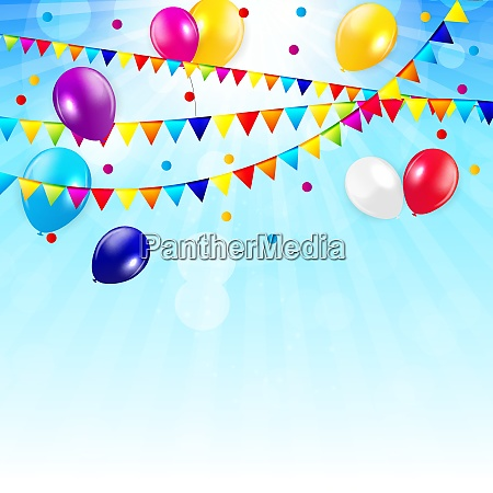 colored balloons background vector illustration