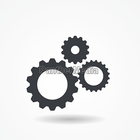 gear icon isolated on white vector