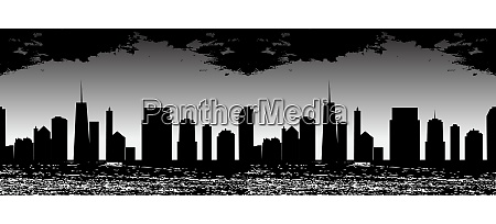 seamless pattern vector illustration of cities