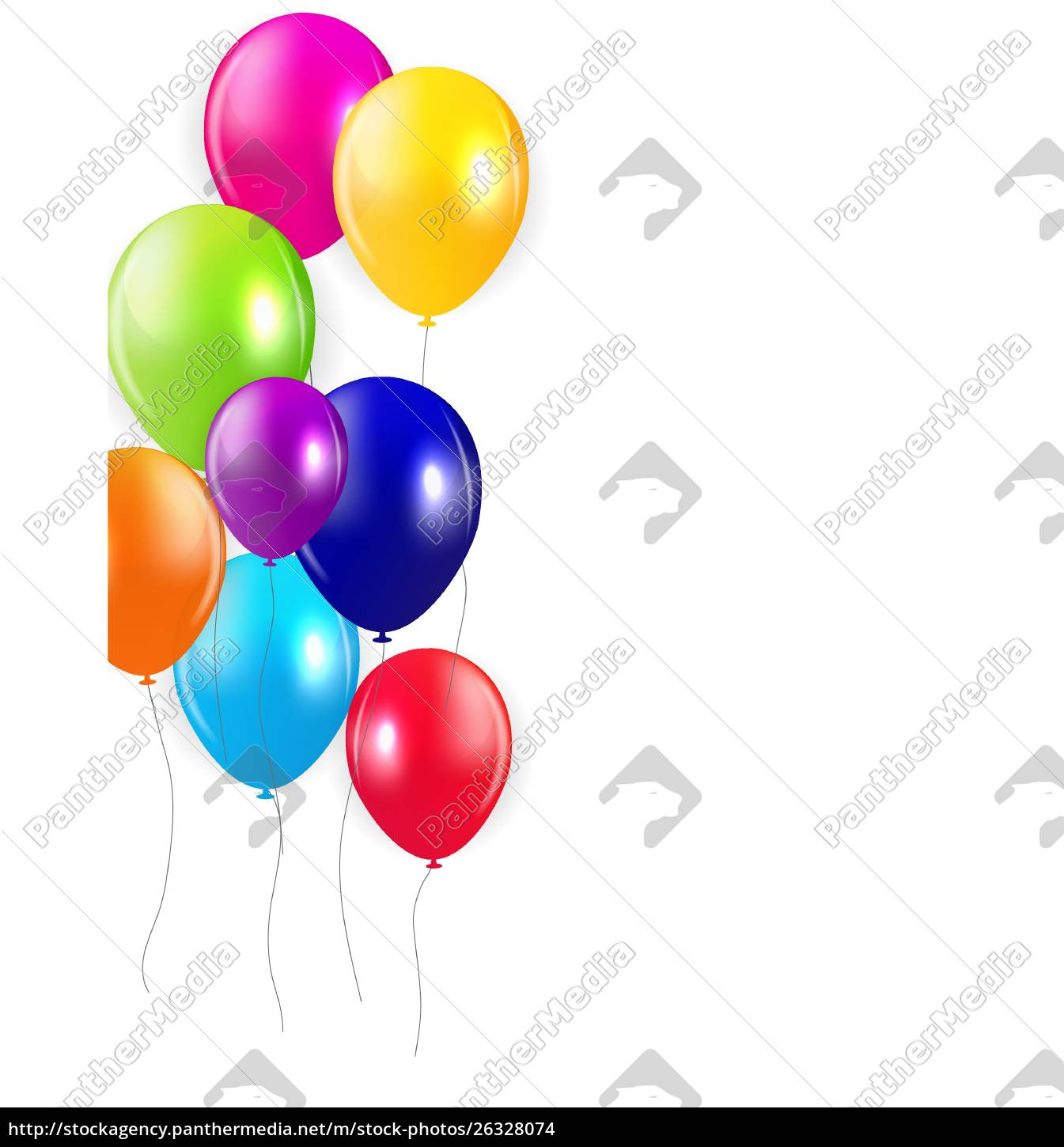 set, of, colored, balloons, , vector, illustration. - 26328074