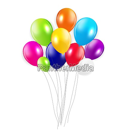 set, of, colored, balloons, , vector, illustration. - 26328428