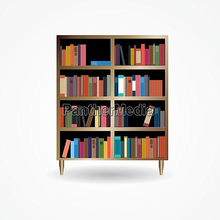 bookcase with books icon vector illustration