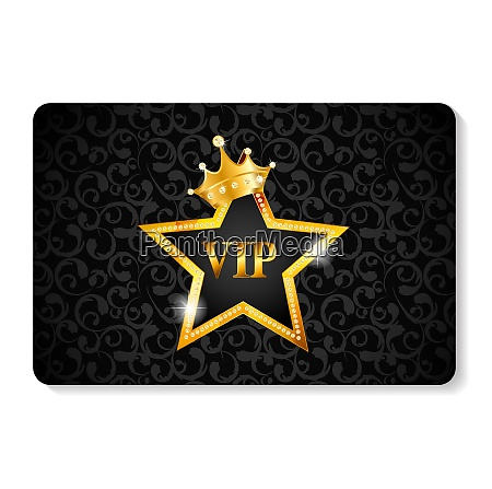 gold vip members card vector illustration