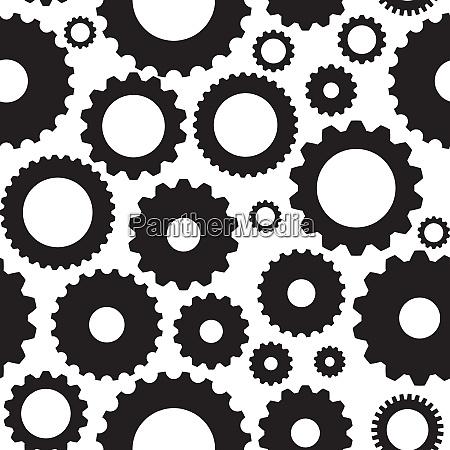 gear icon seamless pattern vector illustration