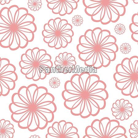 flower seamless pattern background vector illustration