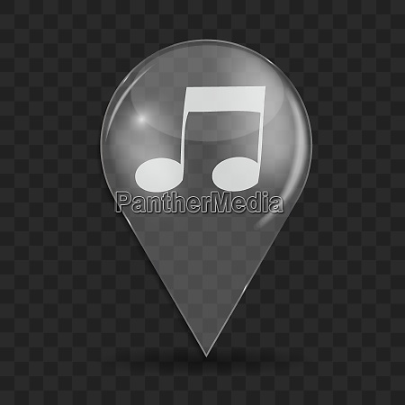 music glossy icon isolated on gray