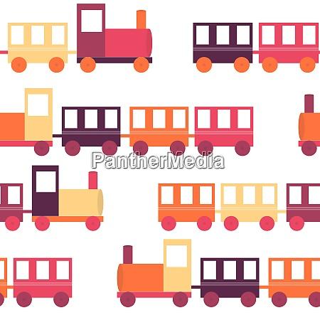 childrenrsquos train seamless pattern vector illustration