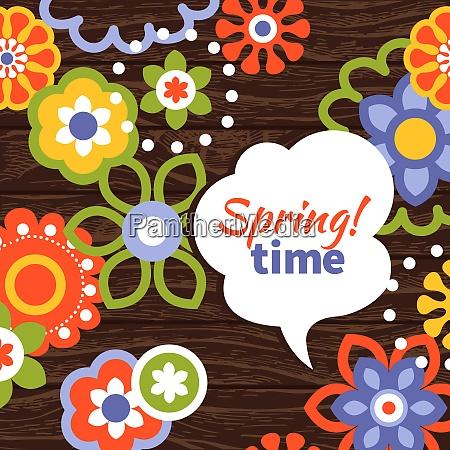 spring design cartoon floral background