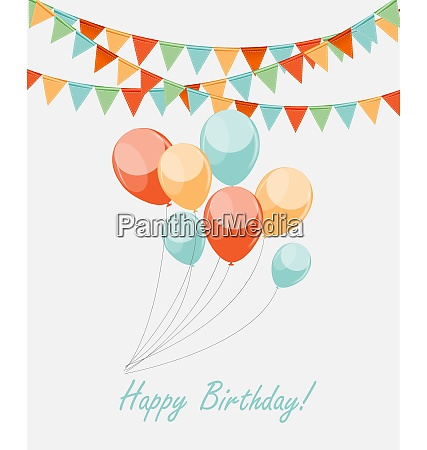 colored retro balloons background vector illustration