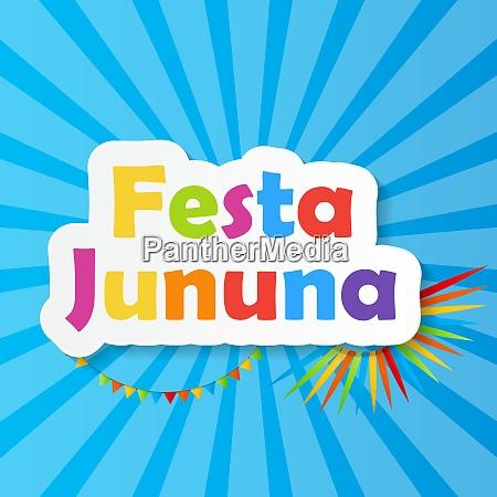 colored festa jinina background vector illustration
