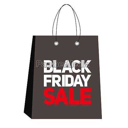 black friday sale label vector illustration