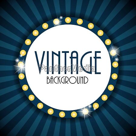 retro vintage background template vector illustration