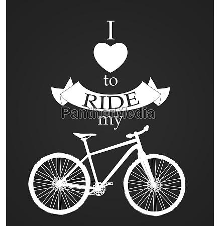 retro bicycle on dark background vector
