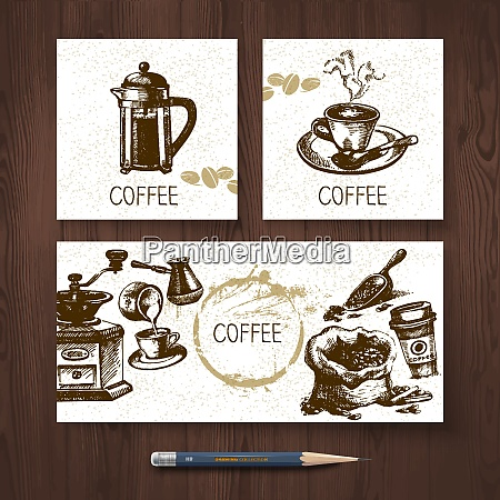 vector identity set of coffee banners