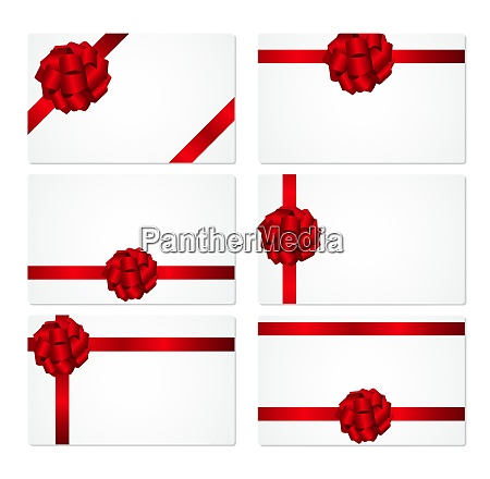 gift card with red bow and