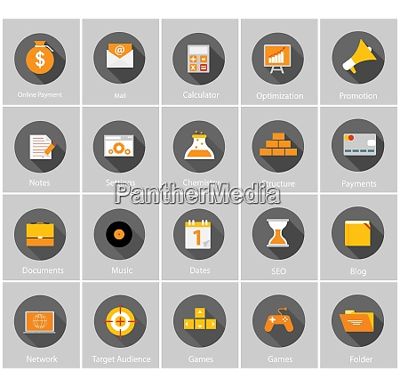 big vector collection of flat business