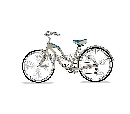 retro bicycle on background vector illustrator