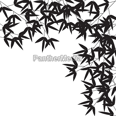 stems and bamboo leaves background vector