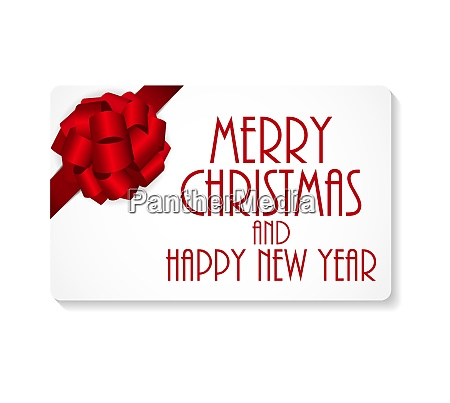gift card with bow and ribbon