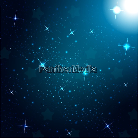 starry sky on blue background vector