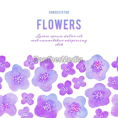 beautiful background with watercolor flowers vector