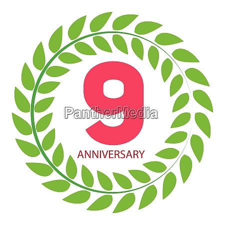 template logo 9 anniversary in laurel