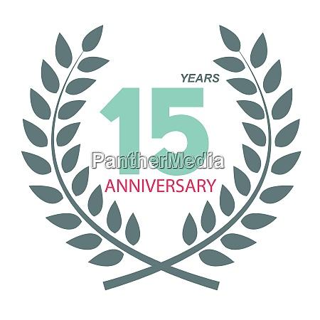 template logo 15 anniversary in laurel