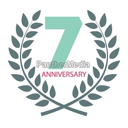 template logo 7 anniversary in laurel