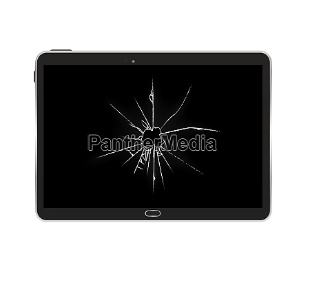 black tablet pc isolated vector illustration