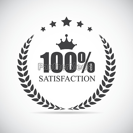 100 satisfaction label vector illustration