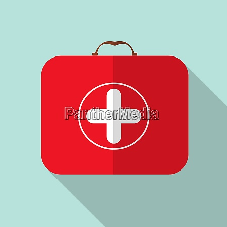 red medical bag with a cross