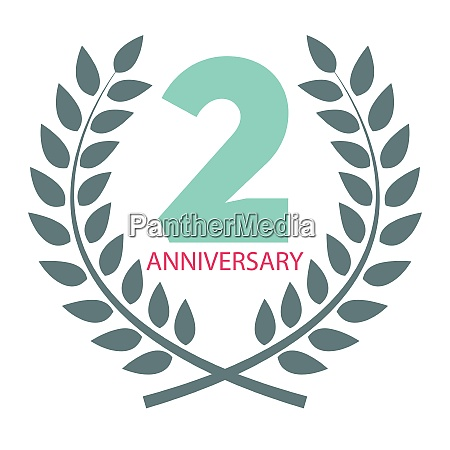 template logo 2 anniversary in laurel