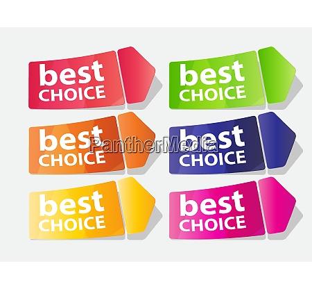 best choice label vector illustration eps10
